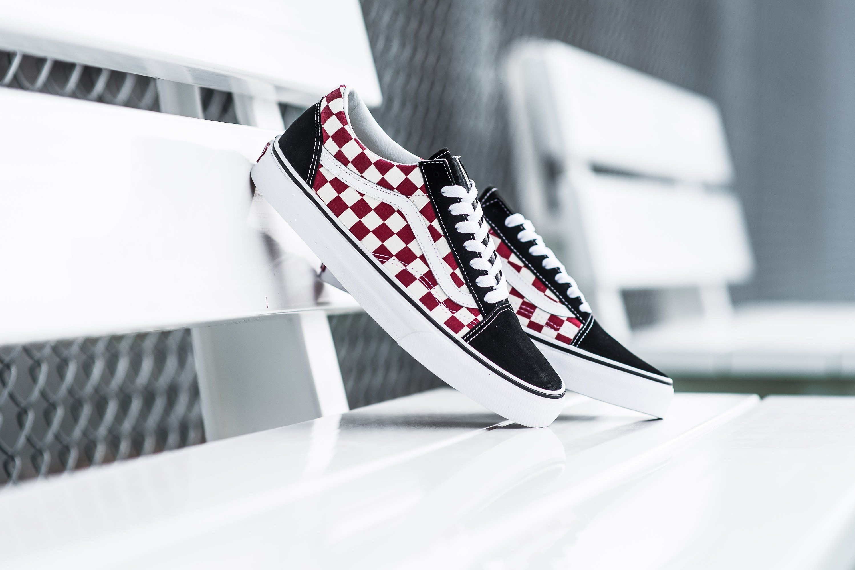 Vans Old Skool Checkerboard Black White Red From Sneaker Politics Vans The Checkerboard Old Skool The Van Black White Red Vans Old Skool Vans Checkerboard