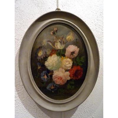 Composition Florale Ovale de Jules Edouard Di[...]