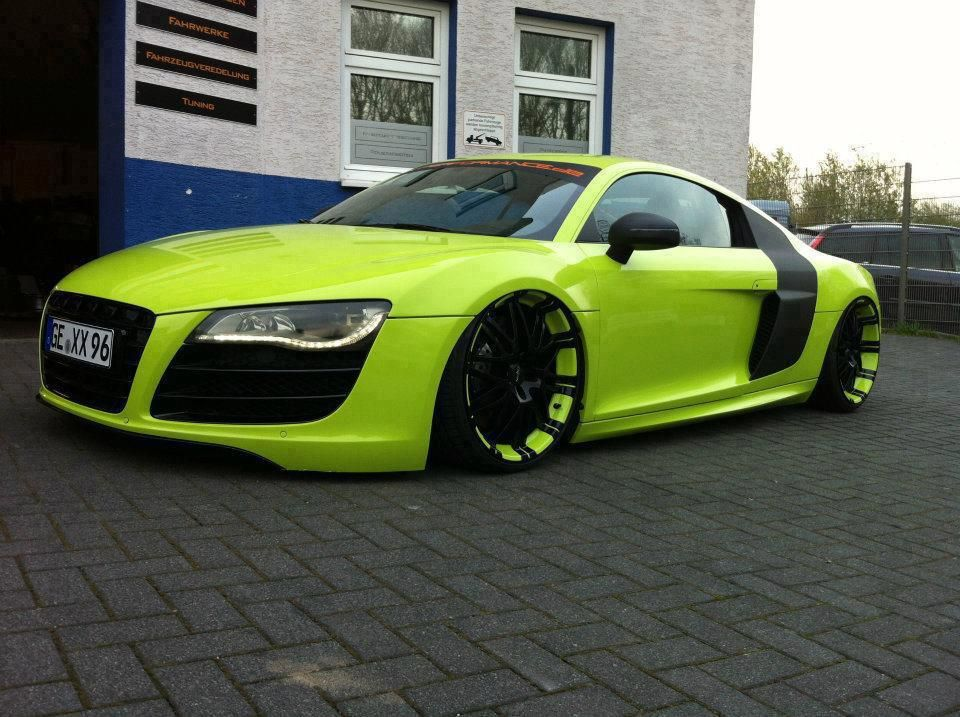 Green Devil Audi R Between The Audi And The Awesome Shade Of - Audi car jobs