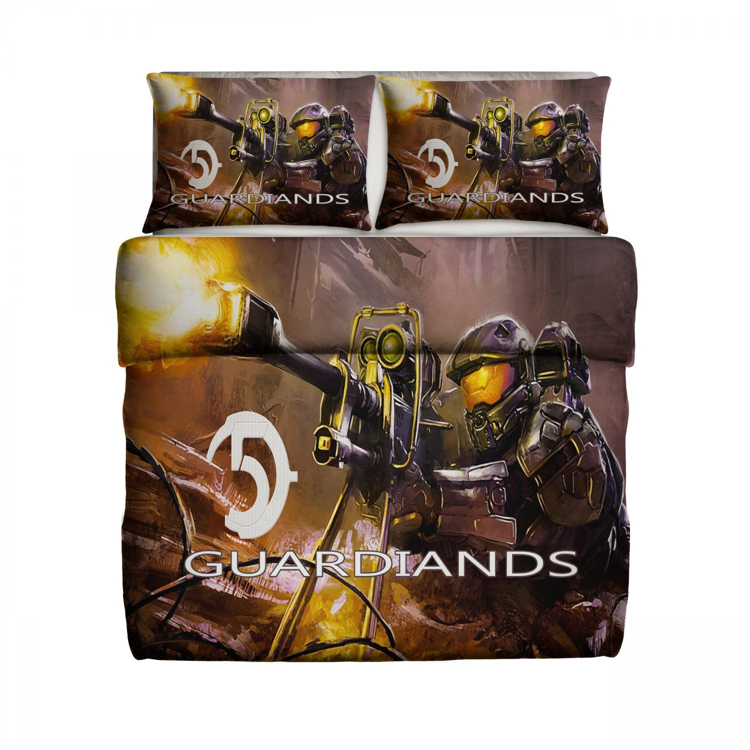Halo fleece blanket large with pillow cases