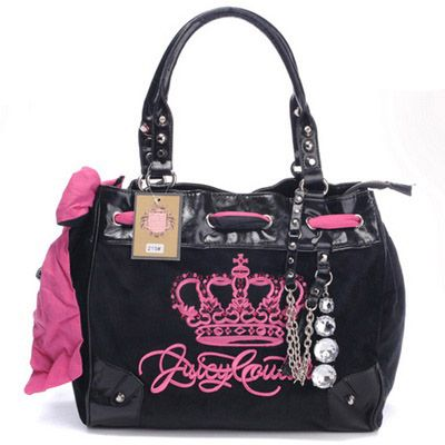Pink Black Juicy Bag http://www.jc-outlet.com/juicy-couture ...