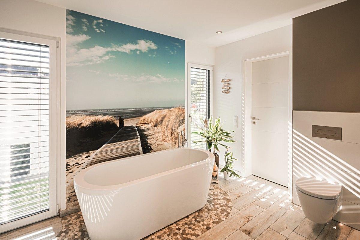Badezimmer mit Foto-Tapete - Inneneinrichtung Haus ...