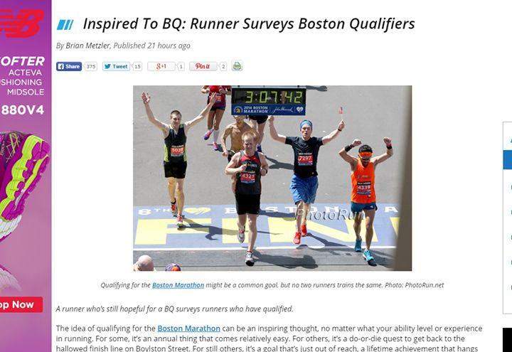 Nuestro socio Rómulo Díaz en la foto principal de un artículo de la página Running Competitor sobre el Maratón de Boston http://ift.tt/1rzIMIb