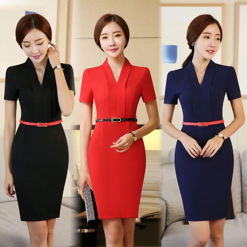 Formal Ol Styles Las Office Work Wear Dress For Business Women Female Casual Vestido Dresses Tops