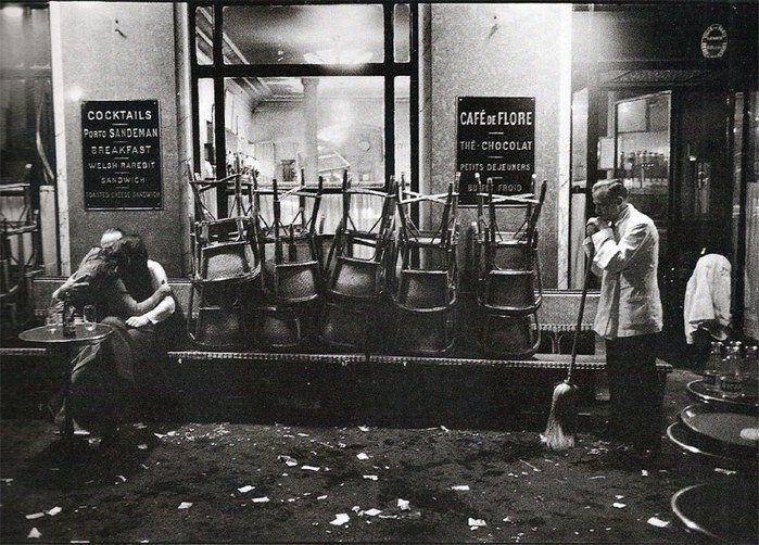 Dennis Stock. Café de Flore 1958/