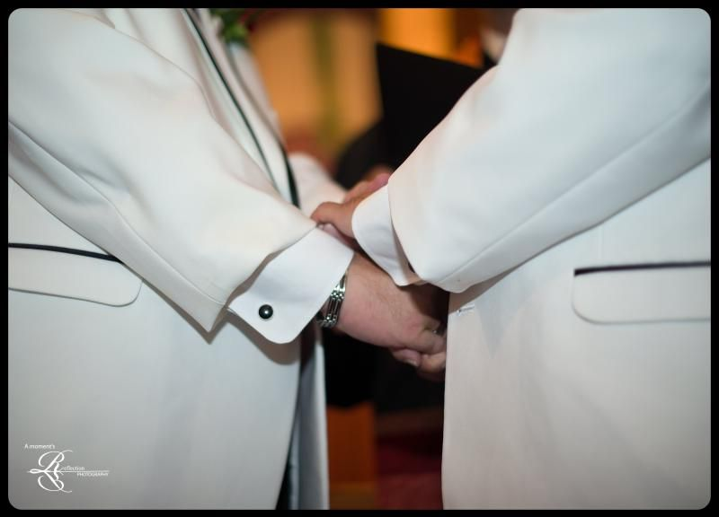 Groom and Groom, Wedding Day, Holding hands, Taken by A Moment's Reflection Photography, amr-photo.com