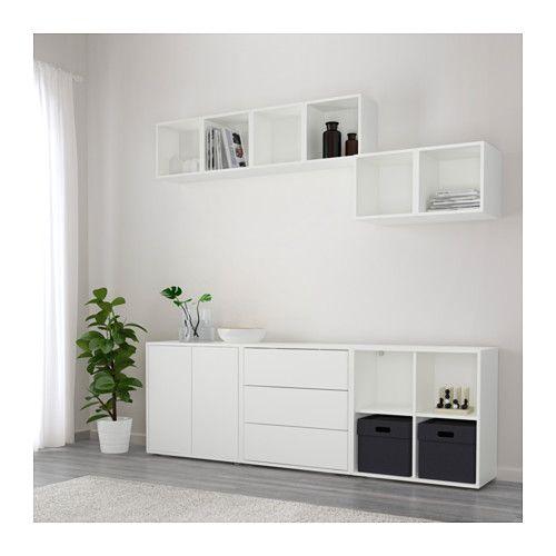 eket kastencombinatie met doppen ikea toon of verberg je bezittingen naar wens door open en. Black Bedroom Furniture Sets. Home Design Ideas