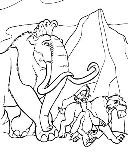 Ice Age Coloring Pages Printables for Bebe Pinterest Ice age