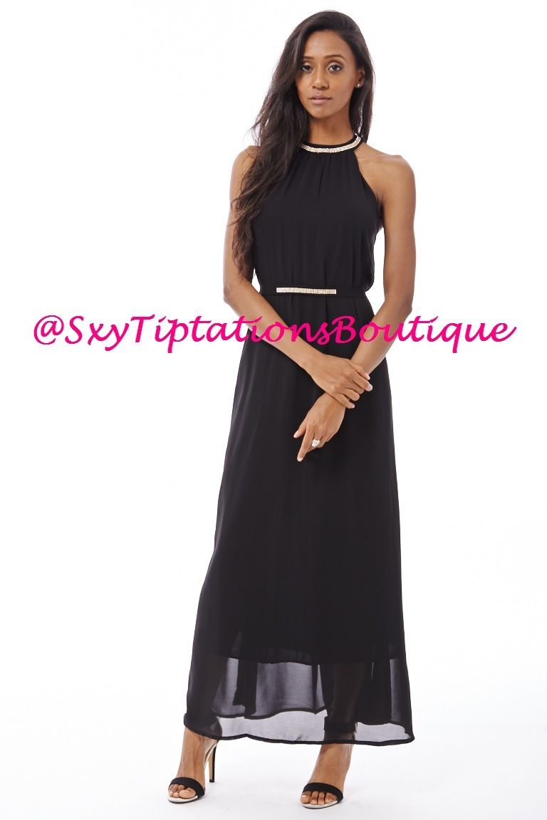 2186dcd20 Sexy Casual Sleeveless Chiffon Maxi Dress. Follow us!