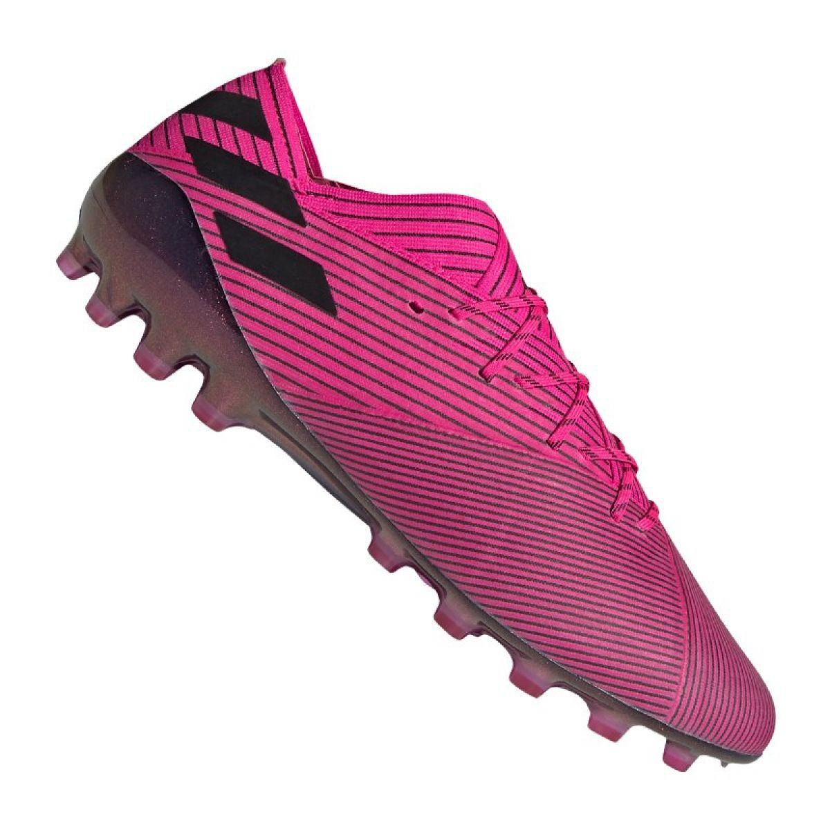 Buty Pilkarskie Adidas Nemeziz 19 1 Ag Fg M Fu7033 Rozowe Rozowe Football Shoes Shoes Adidas Football
