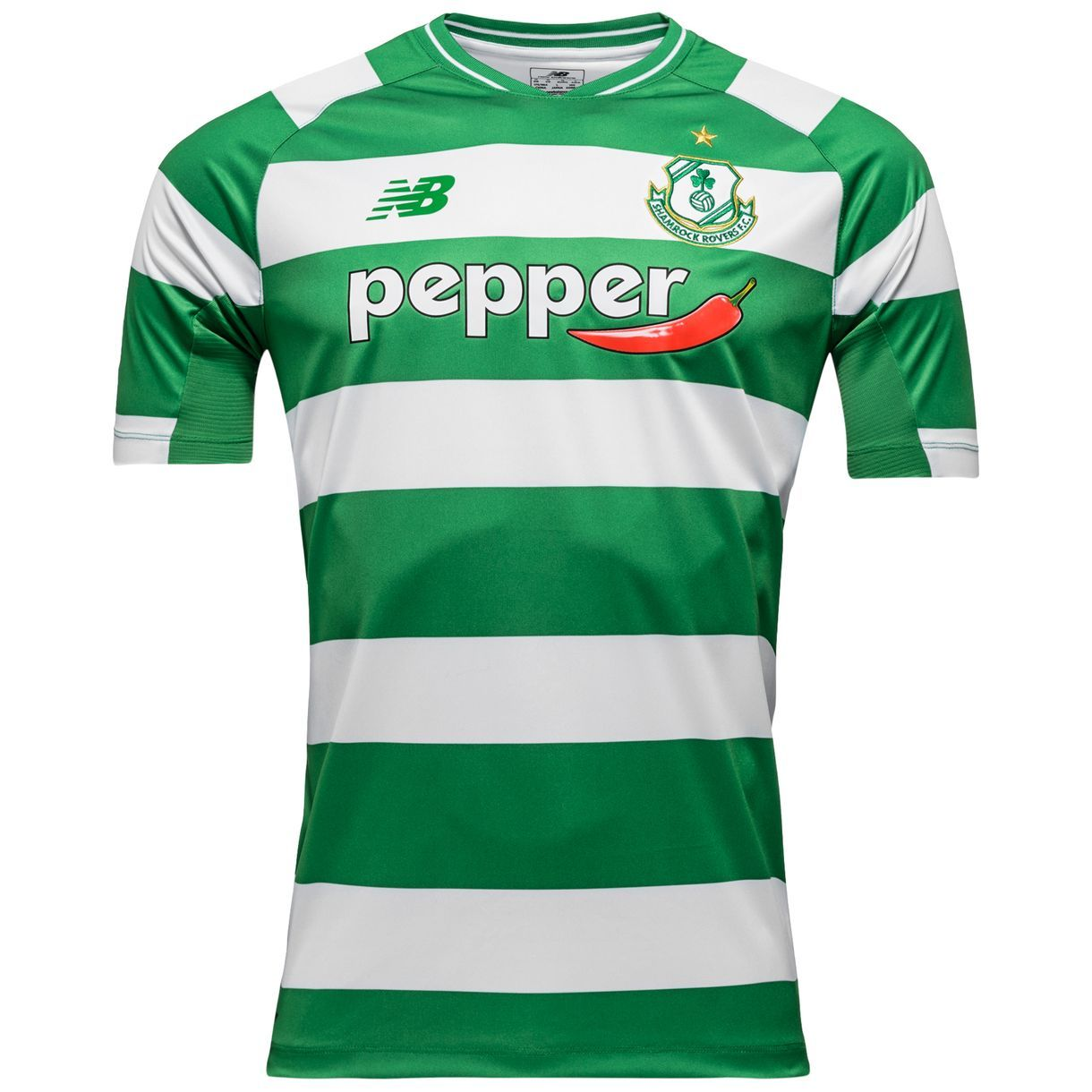 Shamrock Rovers FC (Ireland) - 2016 New Balance Home Shirt ... 9ce3c34bdf5cc