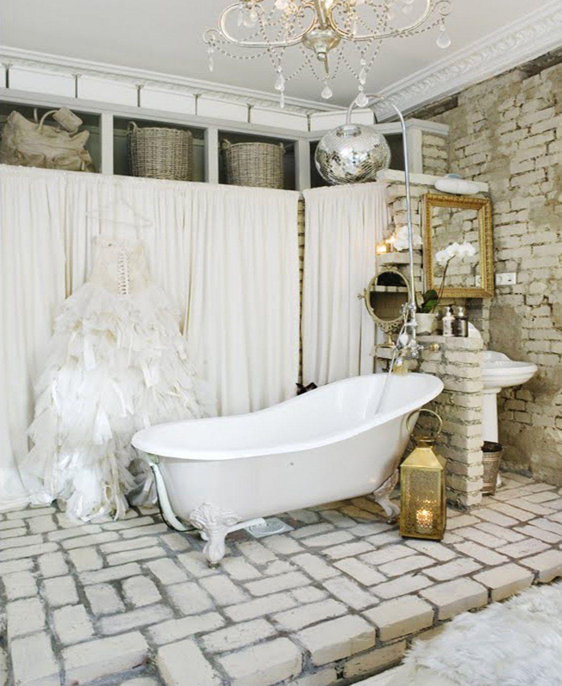Floor Vintage Bathroom Decor