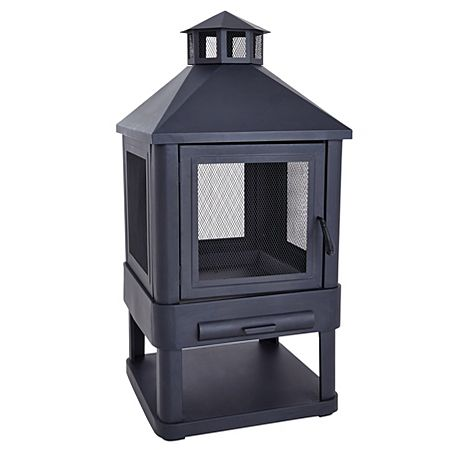 BarBeQuick Built In Grill Oven Log burner Log store and