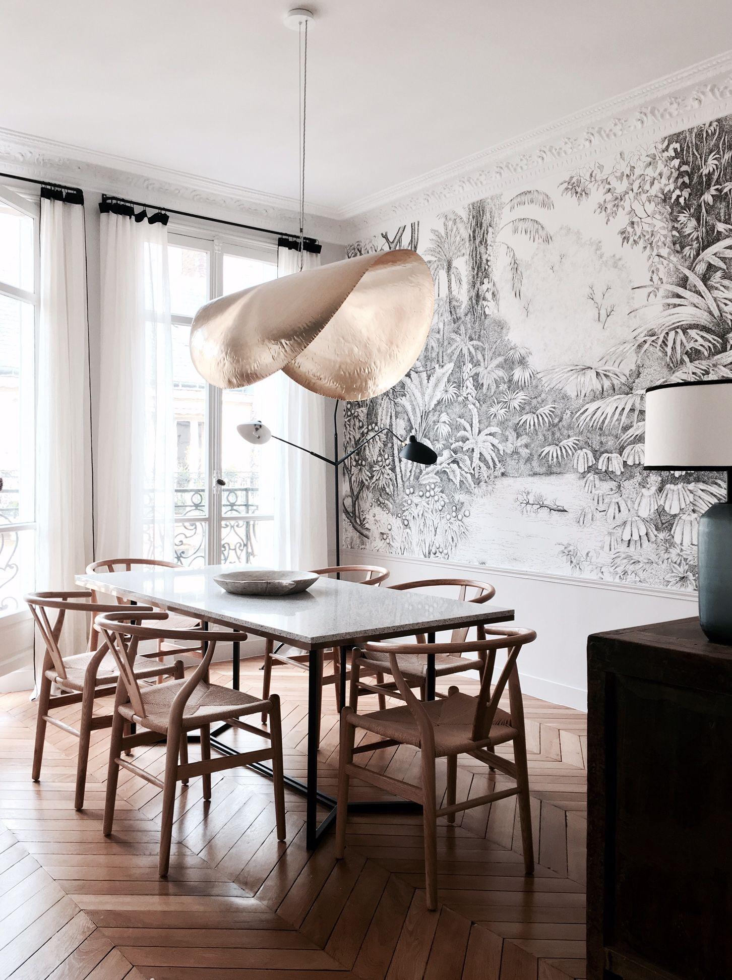 Visite Appartement Paris Deco Caroline Andreoni Reportage Billie Blanket Deco Interieur Salon Deco Maison Inspiration Salle A Manger