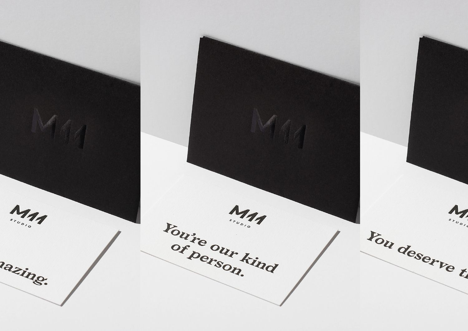 New branding for m11 studio by inhouse bpo brand identity brand identity and print with black block foil detail for auckland based luxe salon m11 designed by inhouse new zealand reheart Choice Image