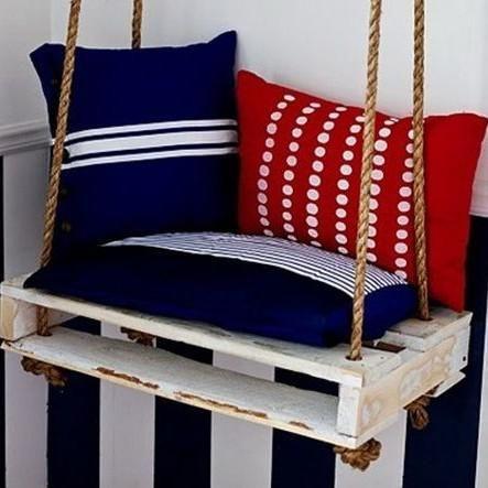 Mira estos originales muebles hechos con palets para for Muebles de jardin hechos con tarimas