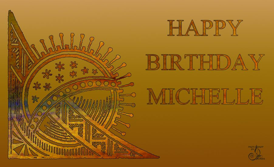 Michelle Happy Birthday Card Birthday name, Happy