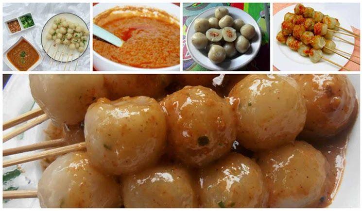 Resep Sate Cilok Kenyal Dengan Sambal Kacang Pedas Dan Gurih