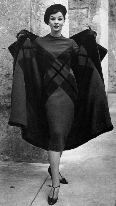 1957, Ensemble by Pierre Balmain