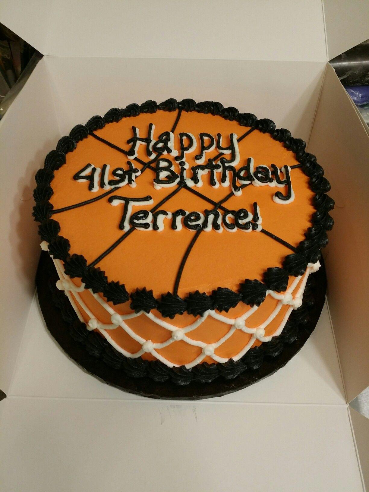 Simple Basketball Birthday Cake Basketball Birthday Cake Birthday Cakes For Teens Diy Cake