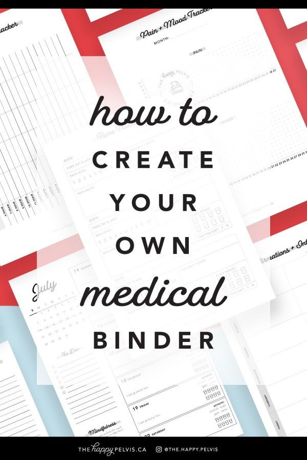 How To Create Your Own Medical Binder