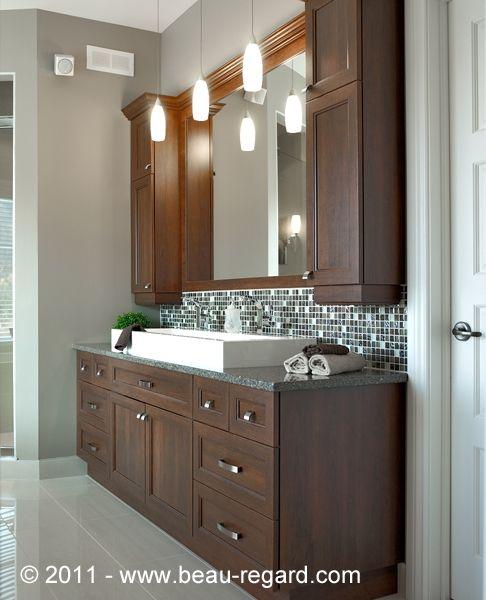 Armoire de salle bain en mélamine et polyester Maison Pinterest
