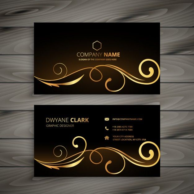 Download Business Card With Golden Ornaments For Free Graphic Design Business Card Vector Business Card Free Business Card Templates