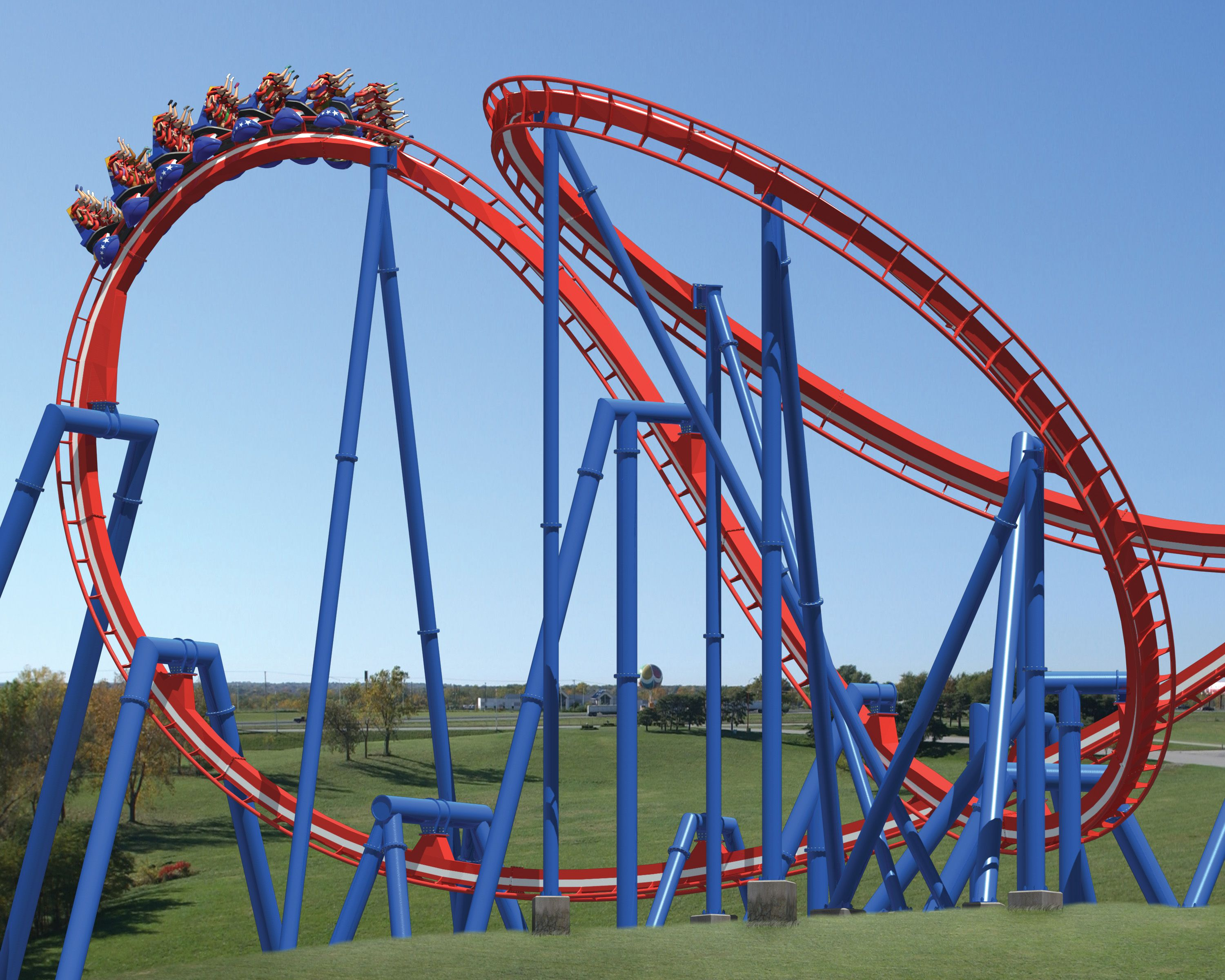 Ride The Patriot At Worlds Of Fun Worlds Of Fun Roller Coaster Ocean Fun