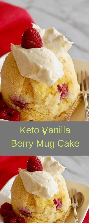 Keto Vanilla Berry Mug Cake (With images) | Dessert ...