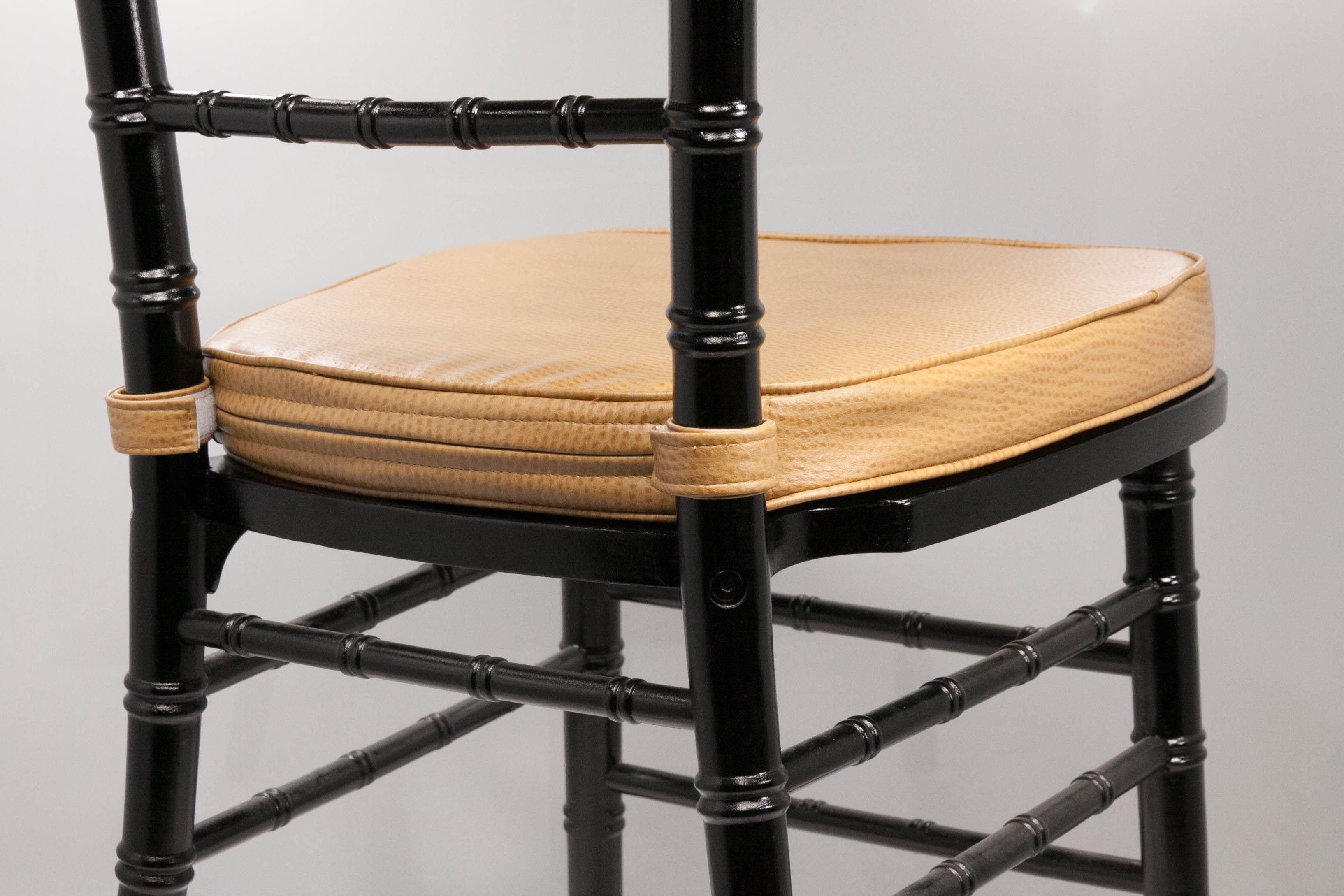 Bon Custom Ostrich Vinyl Chiavari Chair Cushion With Covered Velcro Straps By  Vision Furniture Www.chiavarichairs.com