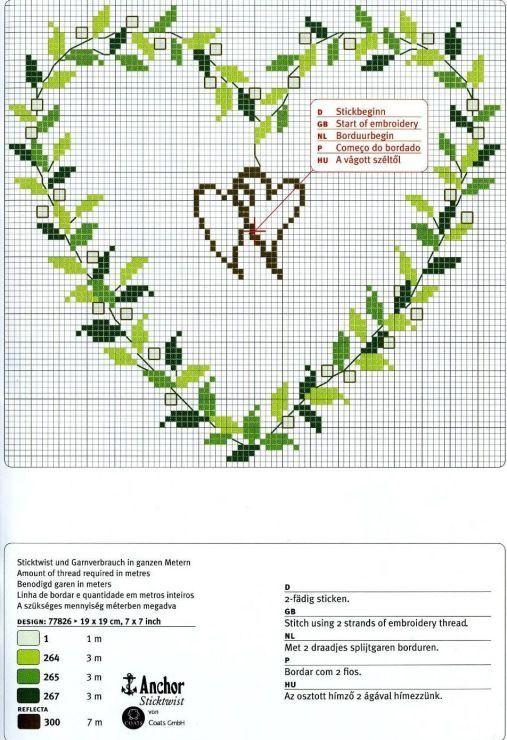Vorlage Ringkissen Kreuzstich Liebe Hochzeit Kreuzstich Kreuzstichblumen
