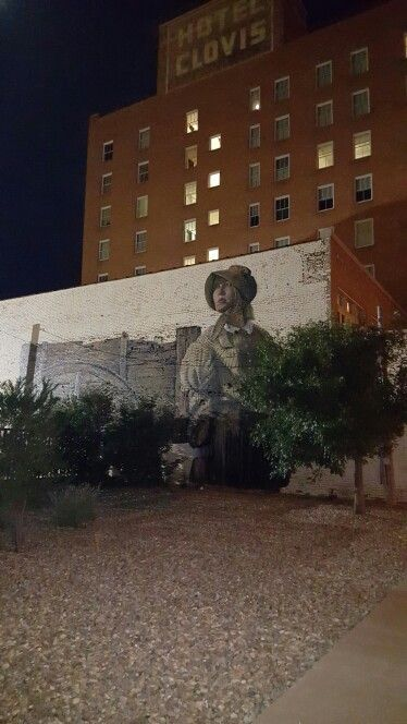 Mural On The Side Of Hotel Clovis New Mexi