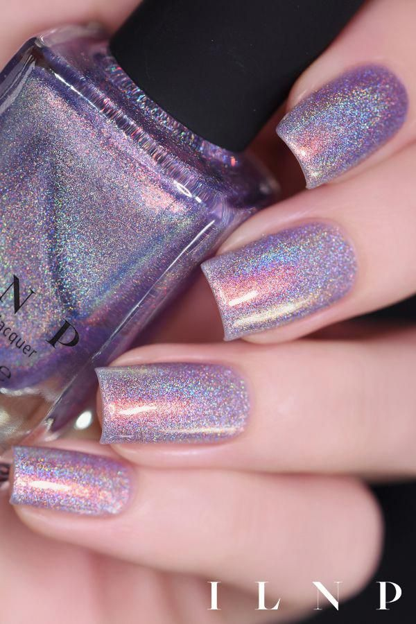 Heat Wave - Soft Purple Holographic Shimmer Nail Polish by ILNP
