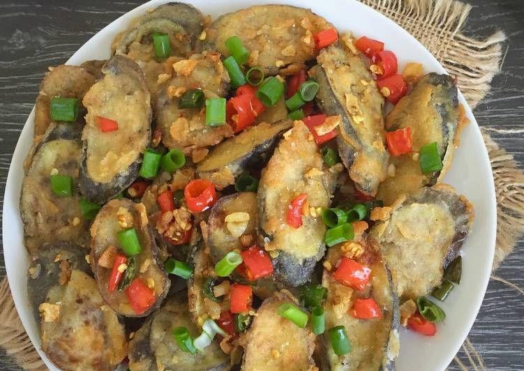 Resep Terong Crispy Cabe Garam Pr Olahanterong Oleh Fitri Sasmaya Resep Makanan Dan Minuman Terong Masakan