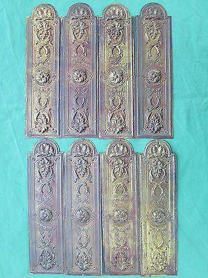 8 plaques propreté embouties laiton ancienne 22 x 5,9 cm porte d