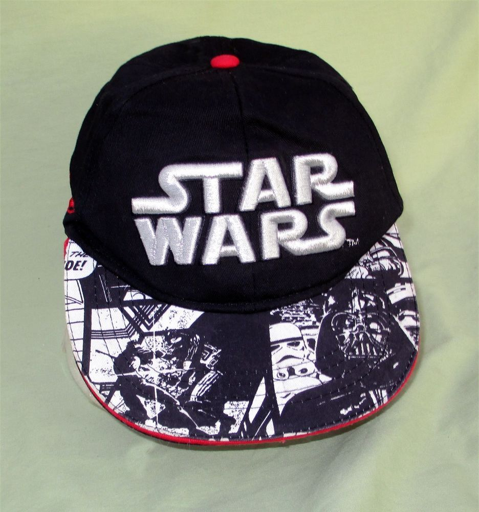 091828058bf Star Wars Hat Lucas Films Snapback Black w Embroidered Silver Berkshire  Fashion