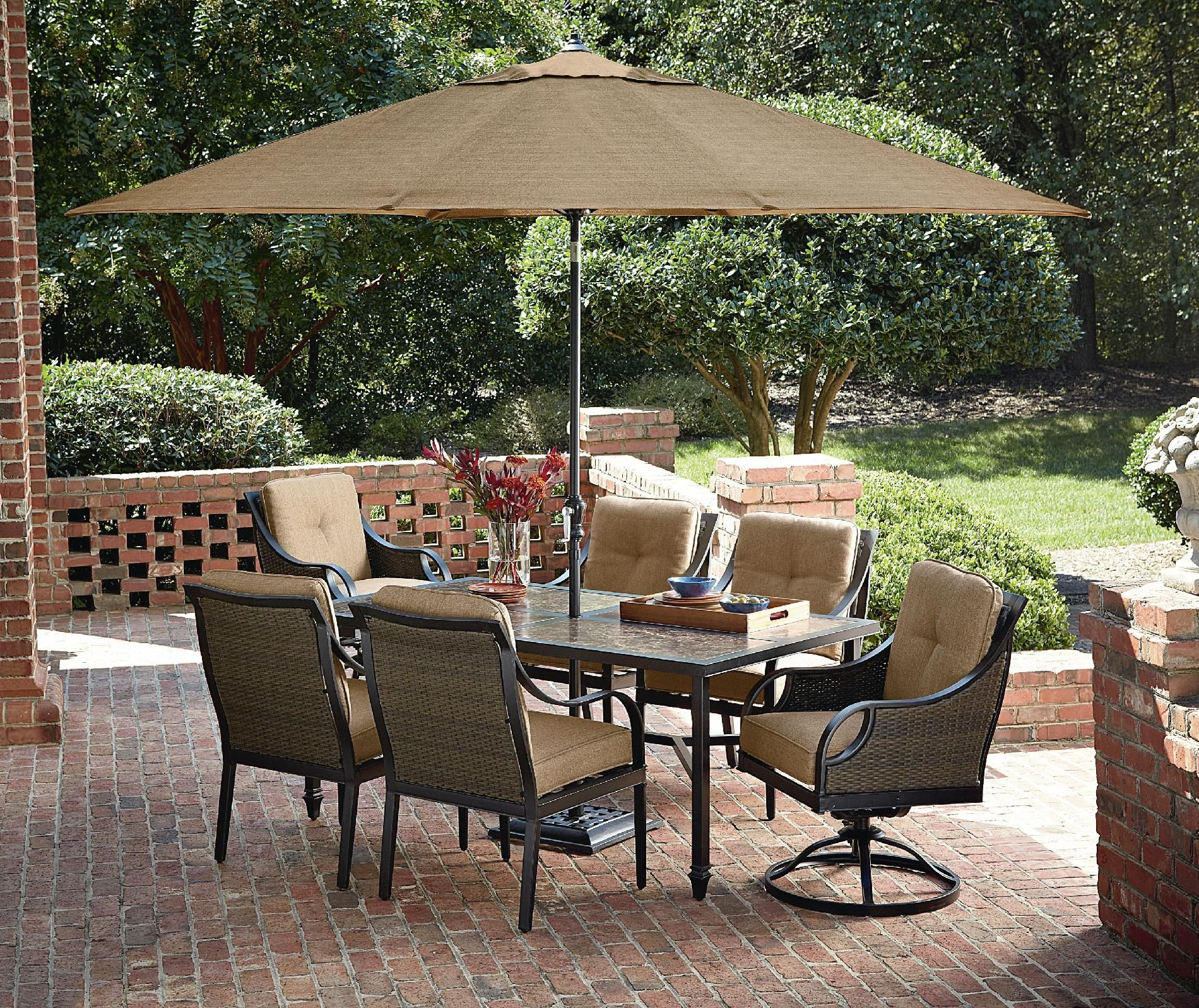 $673 Lazboy Outdoor Charlotte 7 Piece Dining Set  Outdoor Entrancing La Z Boy Dining Room Sets Decorating Inspiration