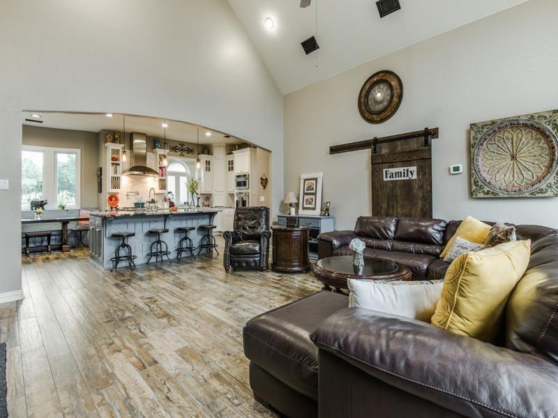 Rustic Chic Multi-Room Remodel | Metal living room, Family room, Room  remodeling