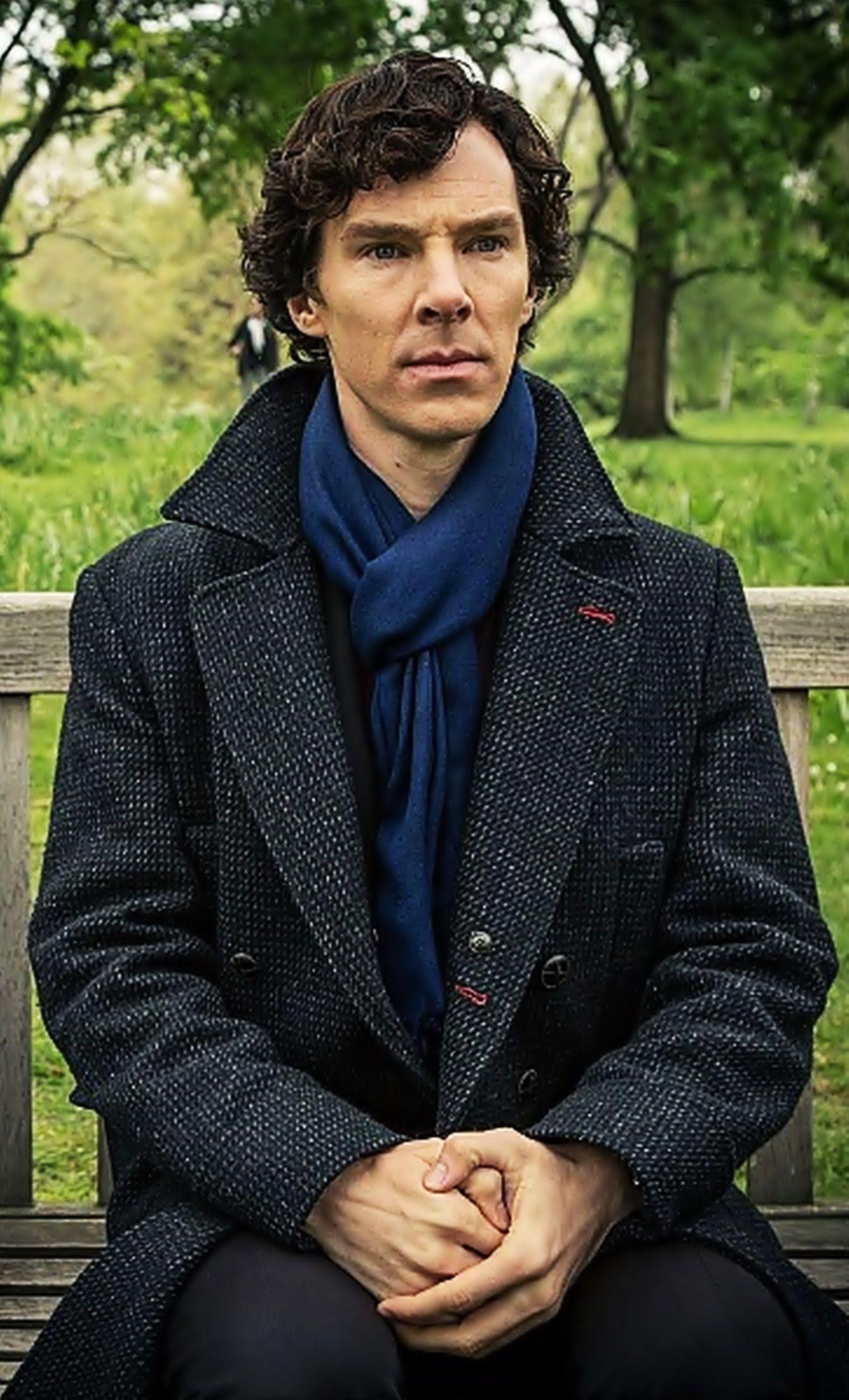Benedict Cumberbatch as Sherlock.