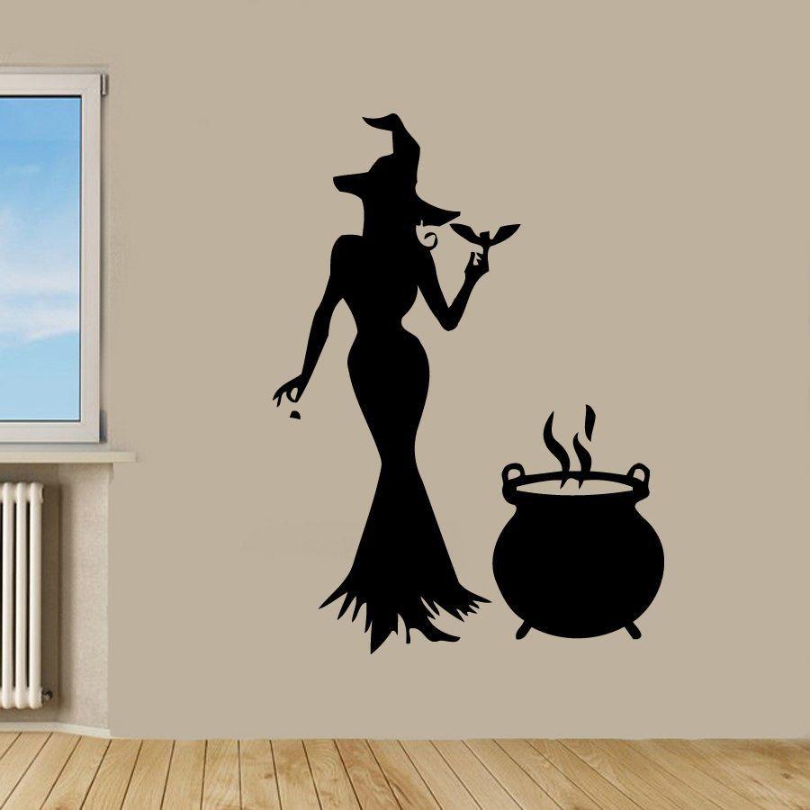 Wall Decals Vinyl Decal Sticker Art Bedroom Decor Halloween Witch