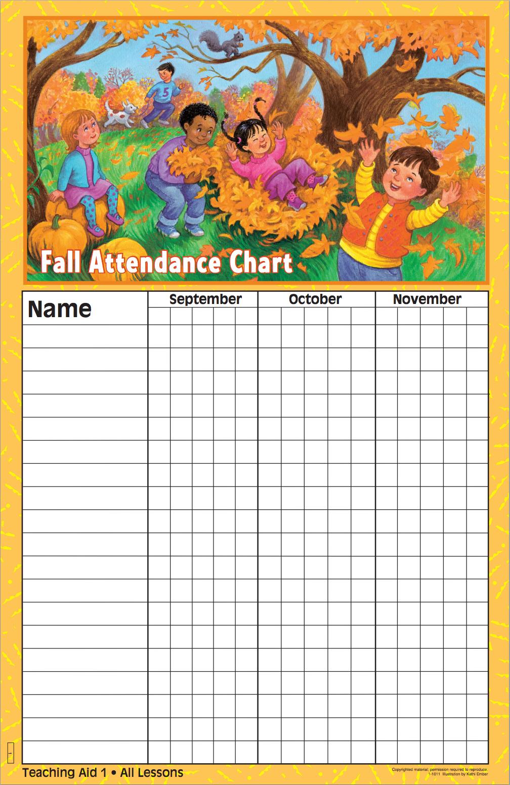 Fall Attendance Chart | BIL Preschool | Disciplr.com ...