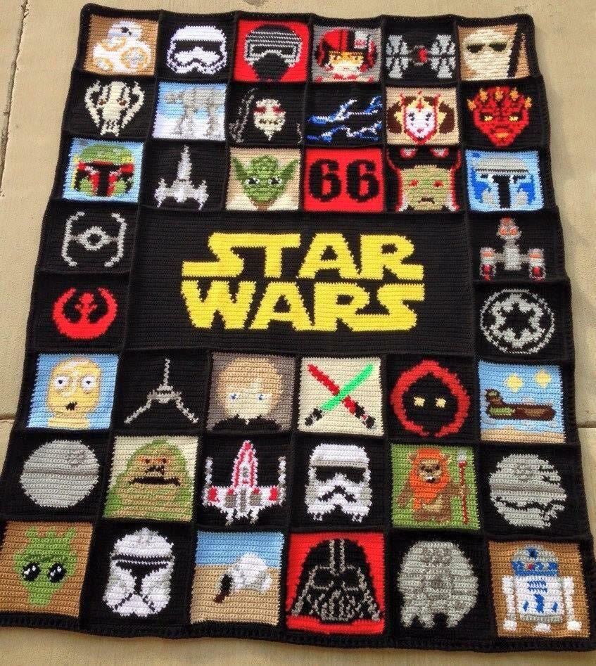 Star Wars Crochet Blanket Afghan Graphghan By Josephineroeper