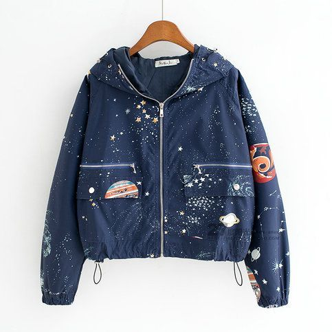 Harajuku Cosmic Galaxy Planet Jacket is part of Fashion - Harajuku Cosmic Galaxy Planet Jacket sold by Harajuku fashion  Shop more products from Harajuku fashion on Storenvy, the home of independent small businesses all over the world