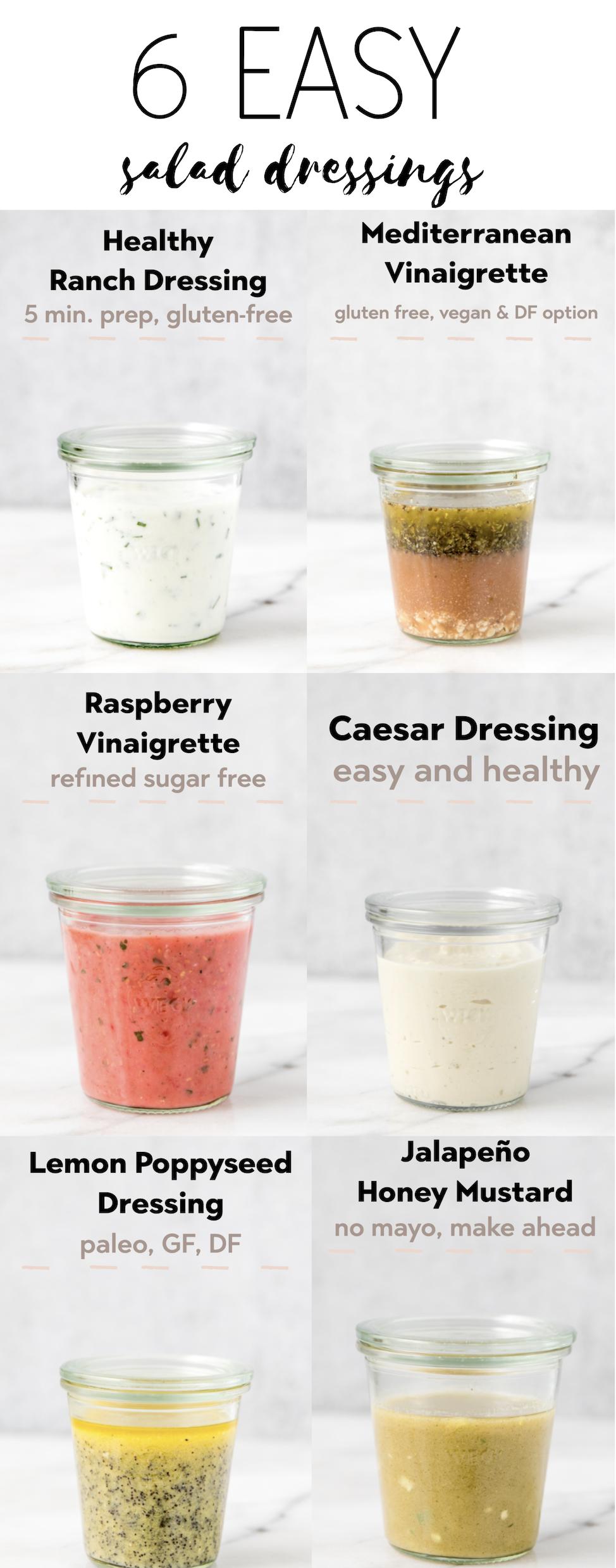 6 Staple Summer Salad Dressings You Ll Actually Love Kroll S Korner Recipe Easy Salad Dressing Homemade Salads Salad Dressing Recipes Healthy [ 2476 x 974 Pixel ]