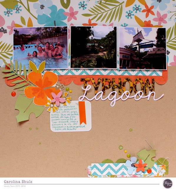 Layout: Typhoon Lagoon - Clique Into Summer by Clique Kits