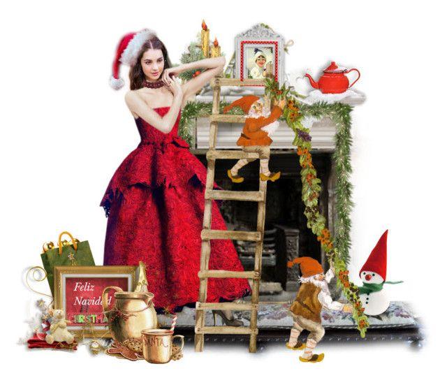 """Feliz Navidad Para Tere ~"" by ellen-hilart ❤ liked on Polyvore featuring art"