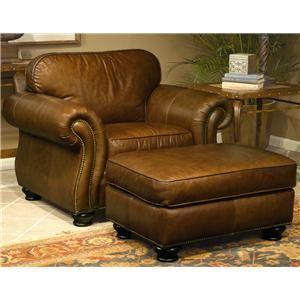 Vincent Leather Chair And Ottoman By Bernhardt   Hamilton Park Interiors    Chair U0026 Ottoman Salt Lake City Furniture U0026 Interior Design