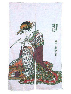 Folding Fan Japanese Doorway Curtain Noren By Pacific