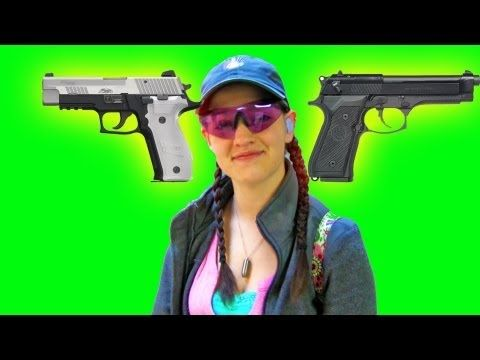 SIG P226 vs Beretta M9 - Shooting Date with Destinee