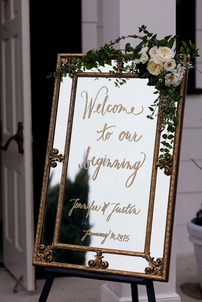 42 Fabulous Mirror Wedding Ideas Diy Wedding Decorations
